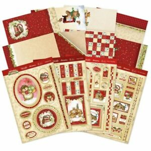 Hunkydory - Patchwork forest luxury die-cut topper & stamp set  16, Brand New