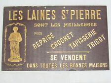 04F59 ANCIEN CARTON PUBLICITAIRE LES LAINES ST PIERRE TRICOT COUTURE MERCERIE