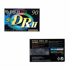 5 Fuji DRII Audio Cassette Tape 90 minutes 90 min Blank Audio Tape Chrome Type 2