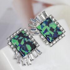 Lele Sadoughi Halo dyed resin inlaid full diamond asymmetric Earrings