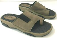 BARETRAPS Womens 8.5M Slides Brown Leather Toe Strap