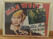 "Vtg Mae West ""Klondike Annie"" Paramount Portal Pub Litho Movie Poster M065 USA"