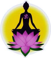 Lotus Meditation - Small Bumper Sticker / Decal