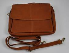 Charlie Adjust Shoulder Bag Genuine Leather Computer Laptop Book Quality Brown