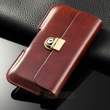 Belt Clip Universal Wallet Case Luxury Leather Pouch Purse Cover For iphone 7 7+