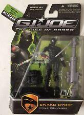 """SNAKE EYES NINJA COMMANDO GI JOE Rise Of Cobra 2008 3.75"""" Inch Action FIGURE"""