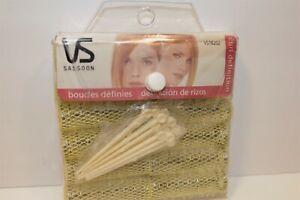 Vintage VIDAL SASSOON Brush Rollers small Hair Rollers Spring Mesh New set of 12