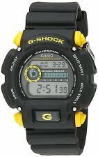 Casio Men's DW-9052-1C9 G-Shock Black Watch with Yellow