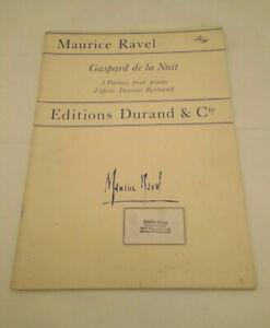 "Klavier Noten "" Gaspard de la Nuit * Maurice Ravel"