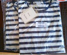 Authentic New Acne Studios Navy/White Striped Rigoletto Face Cotton T-shirt XXS
