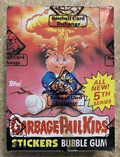 1986 Garbage Pail Kids 5th Series 48 Unopened Packs-NICE BBCE BOX w/ Poster! TWT