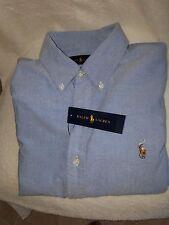 RALPH LAUREN PONY LOGO MEN BLUE OXFORD CLOTH CLASSIC FIT SHIRT SZ XLARGE $89 NWT