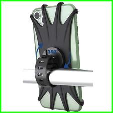 Support Téléphone Vélo Motos en Silicone Support Universel Fixation Guidon 360°