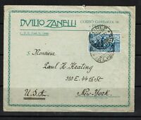Italy - SC# 254 On Cover to USA - 091717