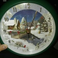 Musical Vintage Christmas Clock Plays 12 Christmas Carols