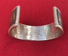 WOW! Designer Hallmarked Sterling Silver Cuff Bracelet Fine Jewelry Women Men