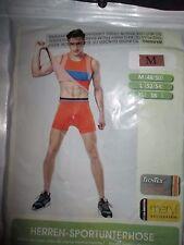 Panegy Men's Orange Compression Shorts Base Layer Sportswear Boxer Briefs Size M