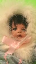 """Rare Vtg 9"""" Eskimo Girl Doll Alaska Inuit (Porcelain Face & Hands w/ Cloth Body)"""