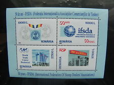 2002 - Romania - Traders Federation Stamps, Block, Mnh