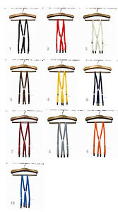 Size LARGE/ Skinny Thin Braces Suspenders 1.5cm / Made in Japan / Preppy, Mod