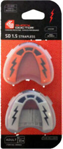 New Shock Doctor V1.5 Kids Youth Gum Shield Mouth Guard Boxing Rugby Twin Pack