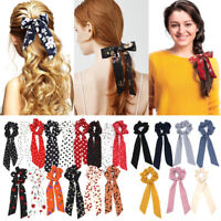 Hair Accessories Floral Bow Scrunchie Hair Bow Ties Hair Rope Ponytail Scarf