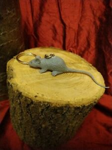 Small Grey Rat Keyring