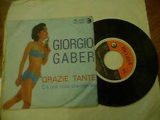 """Giorgio gaber """"Thanks - 45 RPM Disc 1' Print Memories 1963"""" Sexy Cover"""