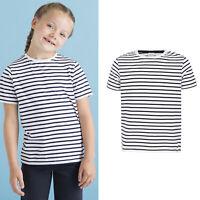 SF Mini Kids Striped Tee Top SM202 -Children Short Sleeve Cotton Unisex T-Shirt