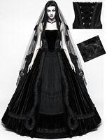 Robe de mariée mariage gothique baroque velours dentelle corset noire Punkrave