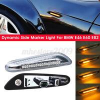 2x LED Ambre Clignotant Dynamique Repetiteur Claire pour BMW E46 E60 E82 E90