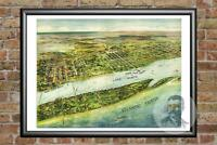 Old Map of Palm Beach, FL from 1915 - Vintage Florida Art, Historic Decor