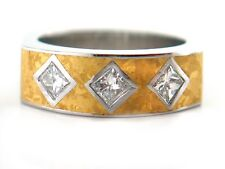 UNIQUE 0.60 CT Princess Cut Diamond Ring VS2/G 950 Platinum & 22K Y Gold