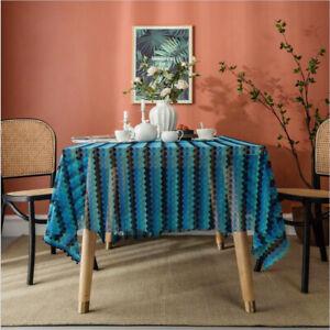 Modern Boho Tablecloths Rectangle Tabletop Decoration Home Wedding Party Decor
