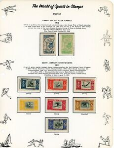 BOLIVIA--Lot of 28 different stamps and Souvenir Sheets