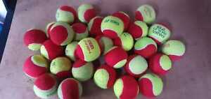 15 Used Tennis Balls. Red & Yellow...