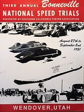 1951,Bonneville National Speed Trials Wendover, Utah Reprint Own It!!