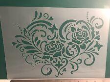 Love Heart Valentines Stencil A4 Wall Craft furniture laser cutMylar 125m