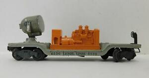 LIONEL 'O' POST-WAR 6520 SEARCHLIGHT CAR (ORANGE GENERATOR)