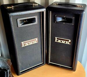 Park 2-Way PA Speakers. Horn Tweeter. Made in England.