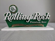 """Rolling Rock Premium Beer Latrobe Brewery Plastic Bar Stand Up Sign """"Nos"""""""