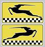 2 x STICKER SIMCA TEAM RALLYE 2 LOGO RACING GAZELLE AUTOCOLLANT 9cm SA059