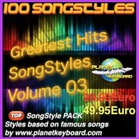 Yamaha Tyros Styles PSR-SX900 SX700 GREATEST HITS SONGSTYLES VOL 03 Song Styles