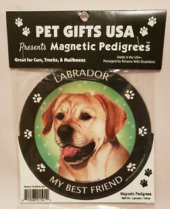 Pet Gifts USA Magnetic Pedigrees Dog Magnet - Golden Labrador My Best Friend