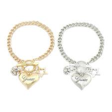 Fashion Women Crystal Love Heart Star Charm Bangle Bracelet Jewelry AccessoYUAU