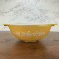 Vintage Pyrex 4 QT Butterfly Gold Cinderella Nesting Mixing Bowl Ovenware #444