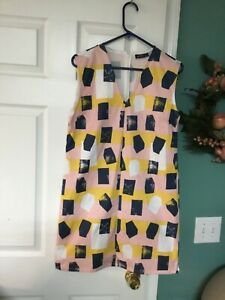 Women's Kate Spade Saturday Multi-Color Sleeveless Dress Size Medium (CON69)
