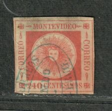 Uruguay Sc#12 Used/F-VF, Thin, Cv. $90