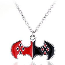 HARLEY QUINN LOGO NECKLACE batman suicide squad joker symbol dc comics diamond