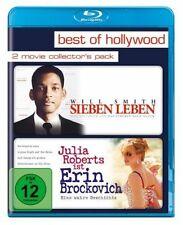 SIEBEN LEBEN (Will Smith) + ERIN BROCKOVICH (Julia Roberts) 2 Blu-ray Discs NEU